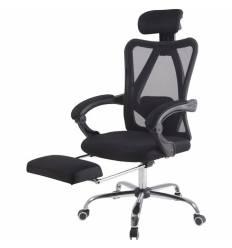 Кресло Бюрократ CH-998/BLACK для руководителя, с подставкой для ног, цвет черный