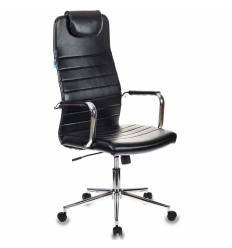 Кресло Бюрократ KB-9/ECO для руководителя, искусственная кожа, цвет черный