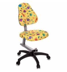 Кресло Бюрократ KD-8/DINO-Y детское, цвет желтый динозаврики