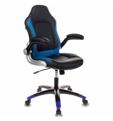 Кресло Бюрократ VIKING-1/BL+BLUE игровое (детское), черный/синий
