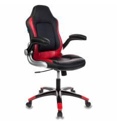 Кресло Бюрократ VIKING-1/BL+RED игровое (детское), черный/красный