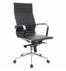 Кресло EVERPROF RIO M Black для руководителя, кожа, цвет черный