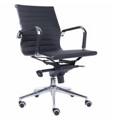 Кресло EVERPROF LEO PU Black для руководителя, экокожа, цвет черный