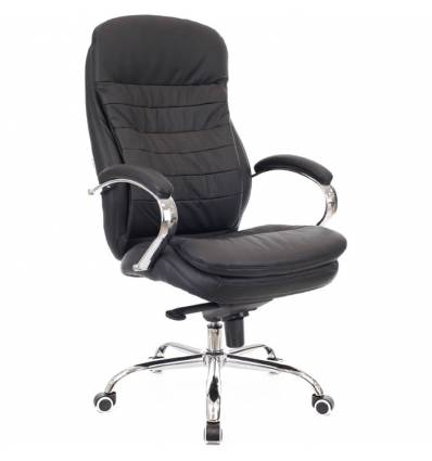 Кресло EVERPROF VALENCIA Black для руководителя, кожа, цвет черный