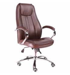 Кресло EVERPROF LONG Brown для руководителя, кожа, цвет коричневый