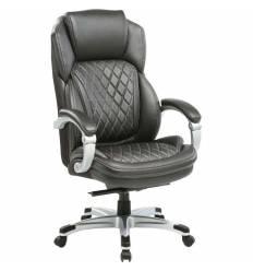Кресло Бюрократ T-9915/BLACK для руководителя, кожа/кожзам, цвет черный