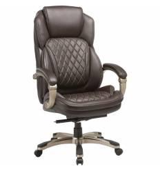 Кресло Бюрократ T-9915/BROWN для руководителя, кожа/кожзам, цвет коричневый