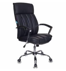 Кресло Бюрократ T-8000SL/BL+GR для руководителя, экокожа, цвет черный