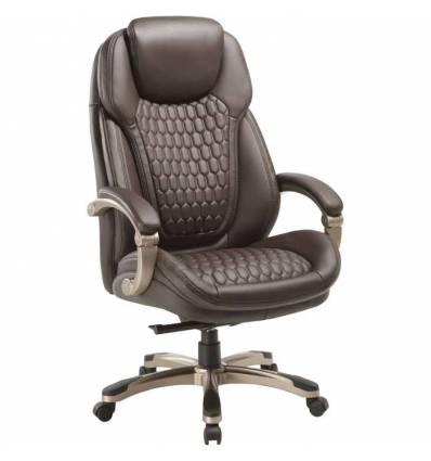 Кресло Бюрократ T-9917/BROWN для руководителя, кожа/кожзам, цвет коричневый