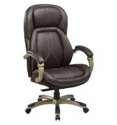 Кресло Бюрократ T-9919/BROWN для руководителя, кожа/кожзам, цвет коричневый