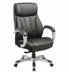 Кресло Бюрократ T-9921/BLACK для руководителя, кожа/кожзам, цвет черный