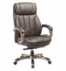 Кресло Бюрократ T-9921/BROWN для руководителя, кожа/кожзам, цвет коричневый
