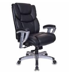 Кресло Бюрократ T-9999/BLACK для руководителя, усиленное, кожа/кожзам, цвет черный