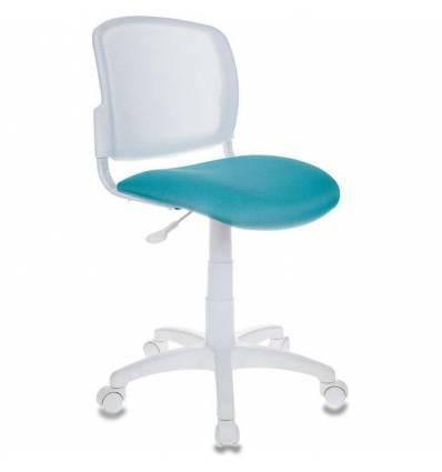 Кресло Бюрократ CH-W296NX/15-175 для оператора детское, спинка белая, сиденье бирюзовое