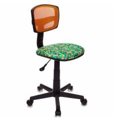 Кресло Бюрократ CH-299/OR/PENCIL-GN детское, сетка/ткань, цвет оранжевый/зеленый карандаши