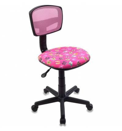 Кресло Бюрократ CH-299/PK/FLIPFLOP_P детское, сетка/ткань, розовый сланцы
