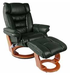 Кресло-реклайнер RELAX Zuel 7582W Green, кожа, цвет зеленый/орех