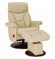 Кресло-реклайнер RELAX MASTER S14120 Ivory, кожа, цвет кремовый/карамель
