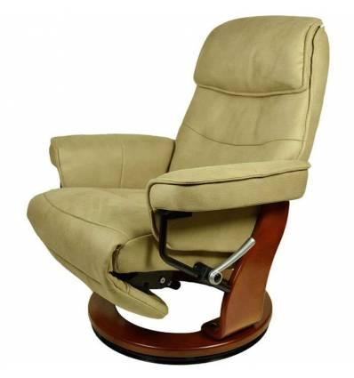 Кресло-реклайнер RELAX Rio 7651 TAUPE, искусственный нубук, цвет бронзовый/орех