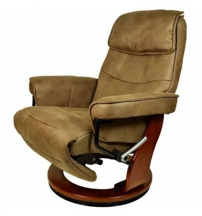Кресло-реклайнер RELAX Rio 7651 MOCCA, искусственный нубук, цвет кофейный/орех