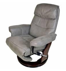 Кресло-реклайнер RELAX Rio 7651 TAUPE GREY, искусственный нубук, цвет серо-коричневый/темный орех