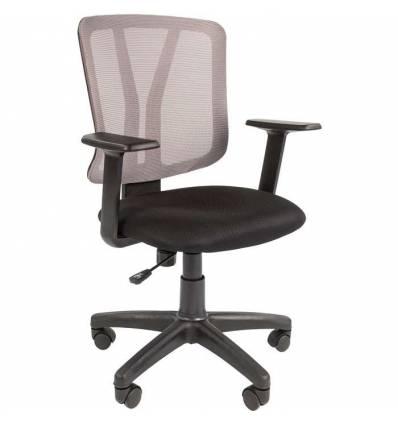 Кресло CHAIRMAN 626/GREY для оператора, сетка/ткань, цвет серый/черный
