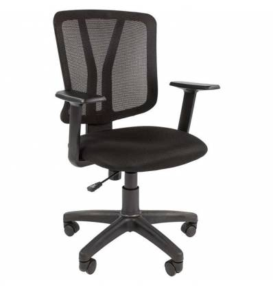 Кресло CHAIRMAN 626/BLACK для оператора, сетка/ткань, цвет черный