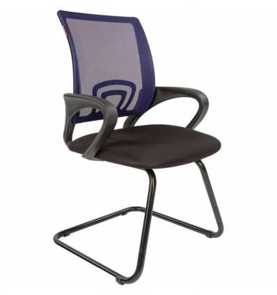 Кресло CHAIRMAN 696 V/BLUE для посетителя, сетка/ткань, цвет синий/черный