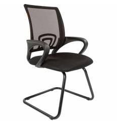 Кресло CHAIRMAN 696 V/BLACK для посетителя, сетка/ткань, цвет черный