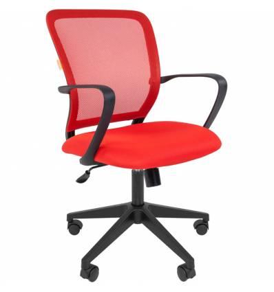Кресло CHAIRMAN 698/RED для оператора, сетка/ткань, цвет красный