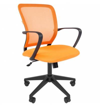 Кресло CHAIRMAN 698/ORANGE для оператора, сетка/ткань, цвет оранжевый