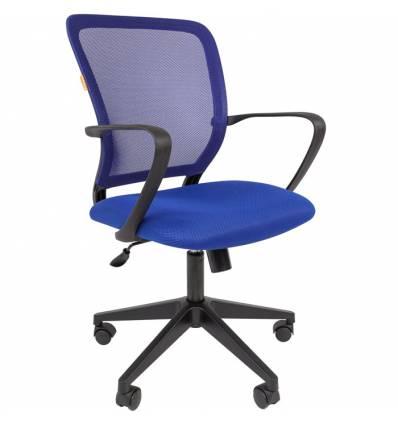 Кресло CHAIRMAN 698/BLUE для оператора, сетка/ткань, цвет синий