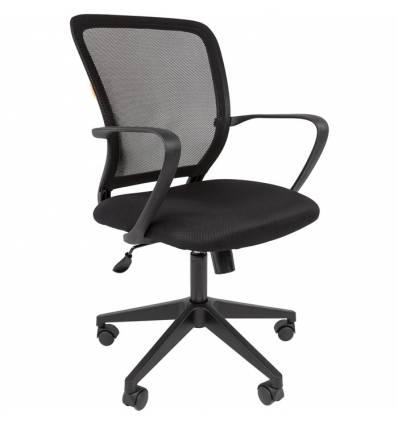 Кресло CHAIRMAN 698/BLACK для оператора, сетка/ткань, цвет черный