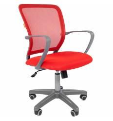 Кресло CHAIRMAN 698 GREY/RED для оператора, серый пластик, сетка/ткань, цвет красный
