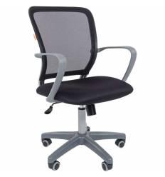 Кресло CHAIRMAN 698 GREY/BLACK для оператора, серый пластик, сетка/ткань, цвет черный