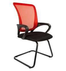 Кресло CHAIRMAN 969 V RED для посетителя, сетка/ткань, цвет красный/черный