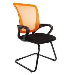 Кресло CHAIRMAN 969 V/ORANGE для посетителя, сетка/ткань, цвет оранжевый/черный