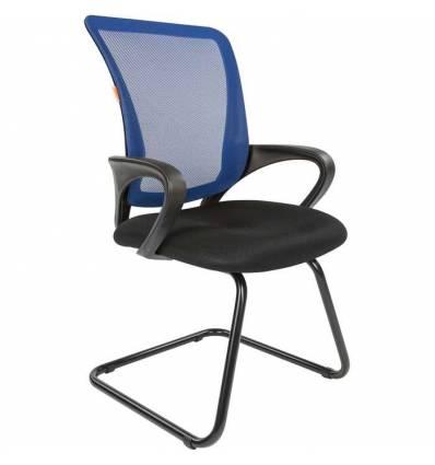Кресло CHAIRMAN 969 V/BLUE для посетителя, сетка/ткань, цвет синий/черный