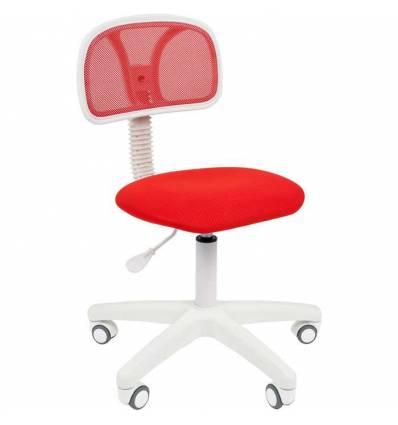Кресло CHAIRMAN 250 WHITE/RED для оператора, белый пластик, цвет красный