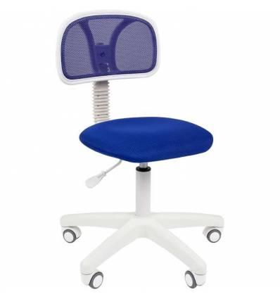 Кресло CHAIRMAN 250 WHITE/BLUE для оператора, белый пластик, цвет синий