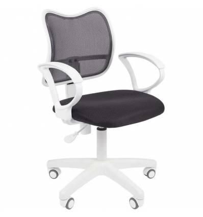 Кресло CHAIRMAN 450 LT WHITE/GREY для оператора, белый пластик, сетка/ткань, цвет серый