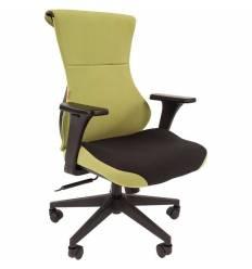 Кресло CHAIRMAN GAME 10/GREEN для руководителя (геймерское), ткань, цвет зеленый/черный
