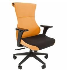 Кресло CHAIRMAN GAME 10/ORANGE для руководителя (геймерское), ткань, цвет оранжевый/черный