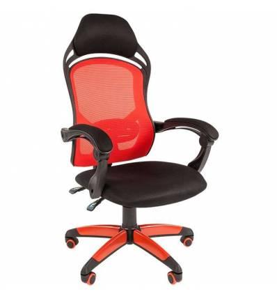 Кресло CHAIRMAN GAME 12/RED для руководителя (геймерское), сетка/ткань, цвет красный/черный