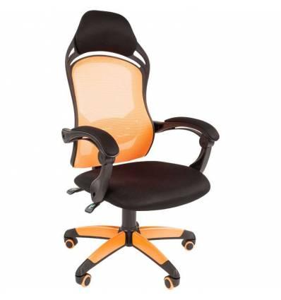 Кресло CHAIRMAN GAME 12/ORANGE для руководителя (геймерское), сетка/ткань, цвет оранжевый/черный