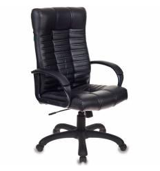 Кресло Бюрократ KB-10/BLACK (Атлант) для руководителя, экокожа, цвет черный