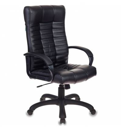 Кресло Бюрократ KB-10/BLACK для руководителя, экокожа, цвет черный