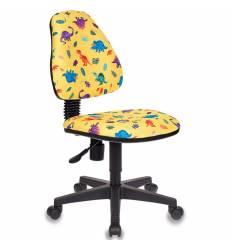 Кресло Бюрократ KD-4/DINO-Y детское, цвет желтый динозаврики