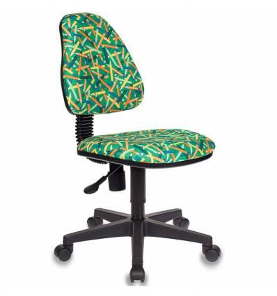 Кресло Бюрократ KD-4/PENCIL-GN детское, цвет зеленый карандаши