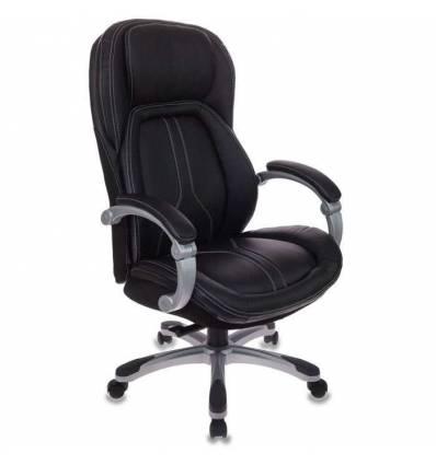 Кресло Бюрократ T-9919/BLACK для руководителя, кожа/кожзам, цвет черный